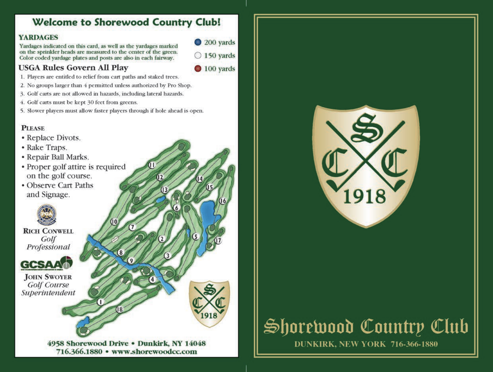 Click to View Scorecard - Golf Course